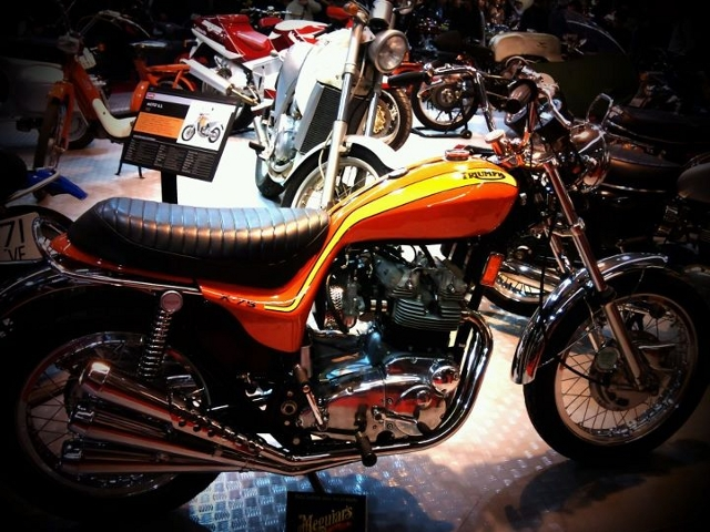 Une superbe Triumph Hurricane aperçue au Salon de la Moto