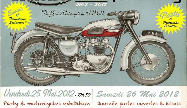 Pour fêter les 110 ans de Triumph, ATS Motorcycles offrait l'apéro...