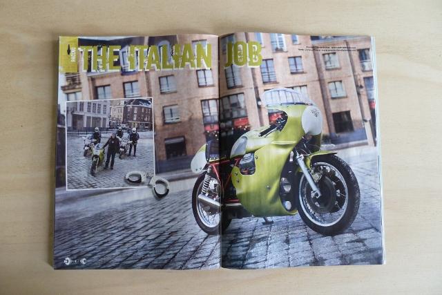Une Moto-Guzzi V7 Sport préparée endurance, à découvrir dans RAD Motorcycles Magazine.