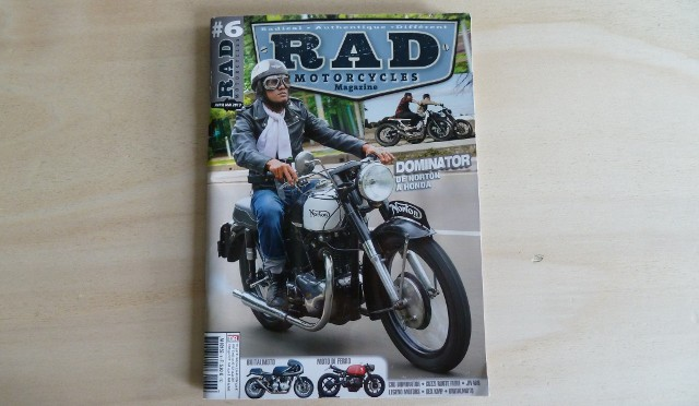 La couverture de RAD Motorcycles Magazine #6.