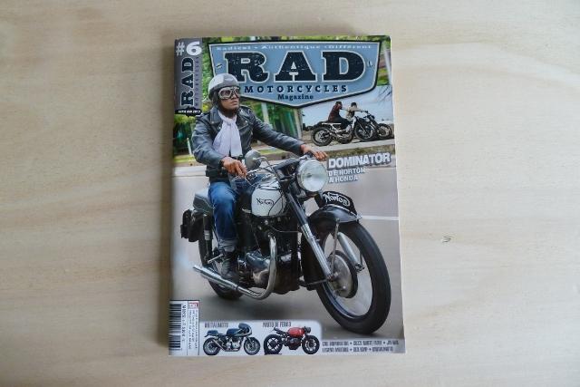 La couverture de RAD Motorcycles Magazine #6.