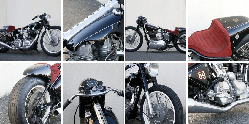 Royal Enfield 350 by Stoop Motorcycles.