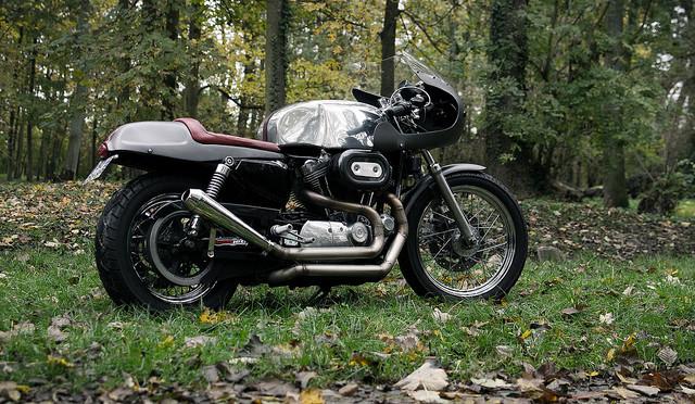 La Harley-Davidson Sportster d'Eric, un cafe-racer pur et dur.