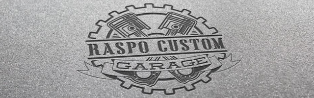 Le logo de Raspo Custom Garage.