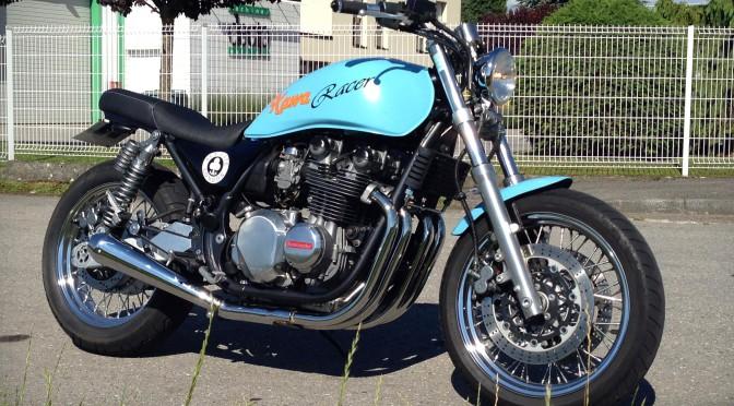 La Kawasaki Zephyr 750 Heritage de Vincent.