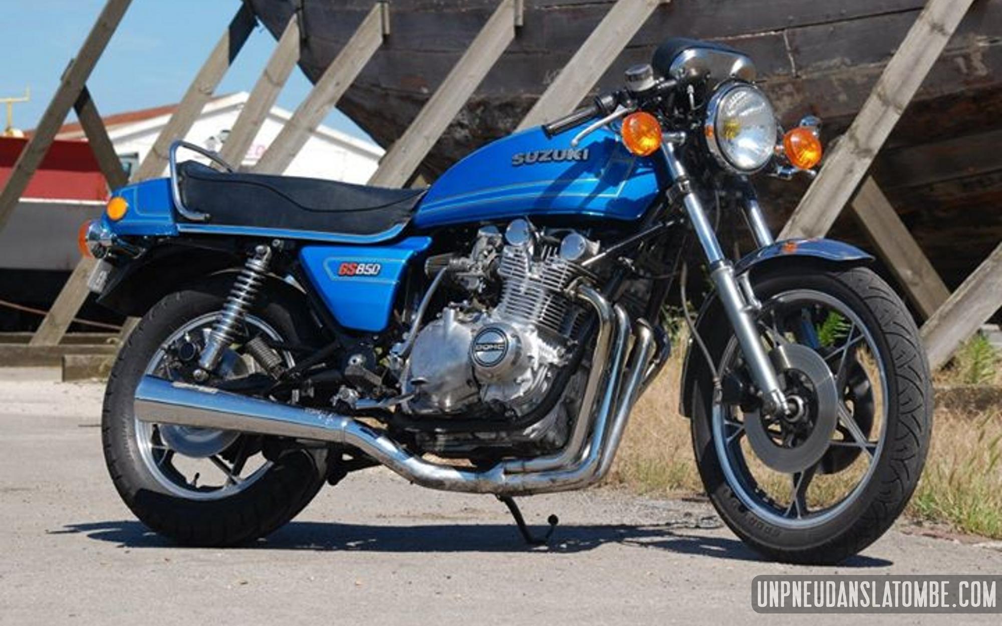 La Suzuki GS 850 de Quentin.