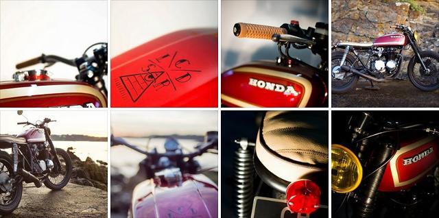 Honda CB 550 Four by Sur Les Chapeaux De Roues.