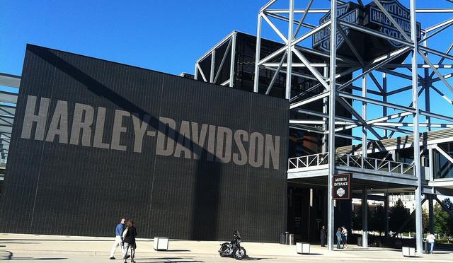 L'entrée du Harley-Davidson Museum à Milwaukee.