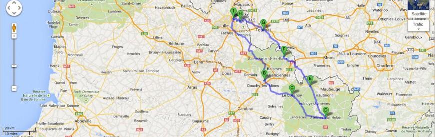 """Itinéraire de balade à moto : """"Au sud du Nord"""" !"""