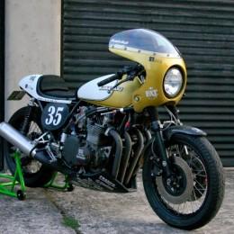 """La Kawasaki Z900 """"Z Racer"""" de Sébastien Lorentz."""