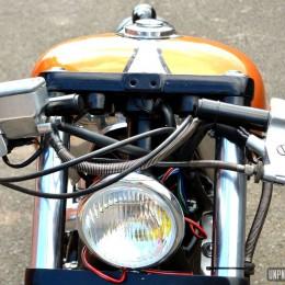 Au guidon de sa Honda Shadow custom, Xav vous passe le bonjour de La Réunion...