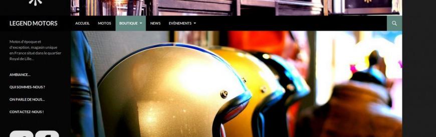 Mon day job ? Créer des sites internet comme celui de Legend Motors...