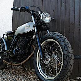 La Yamaha TW 125 de Baptiste...