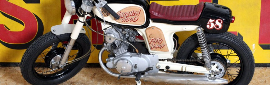 "Honda 125 CD ""Varzhin Wood"", made in Breizh by Thundertoul..."