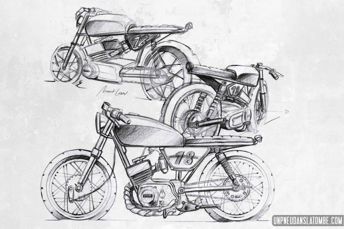 La Yamaha RS 200 de Mahmut, un petit cafra 2 temps bon chic bon genre...