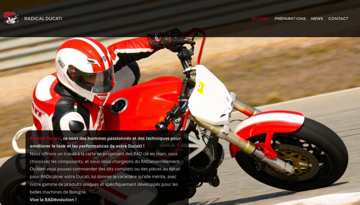 Le nouveau site de Radical Ducati ? Une création de votre serviteur...