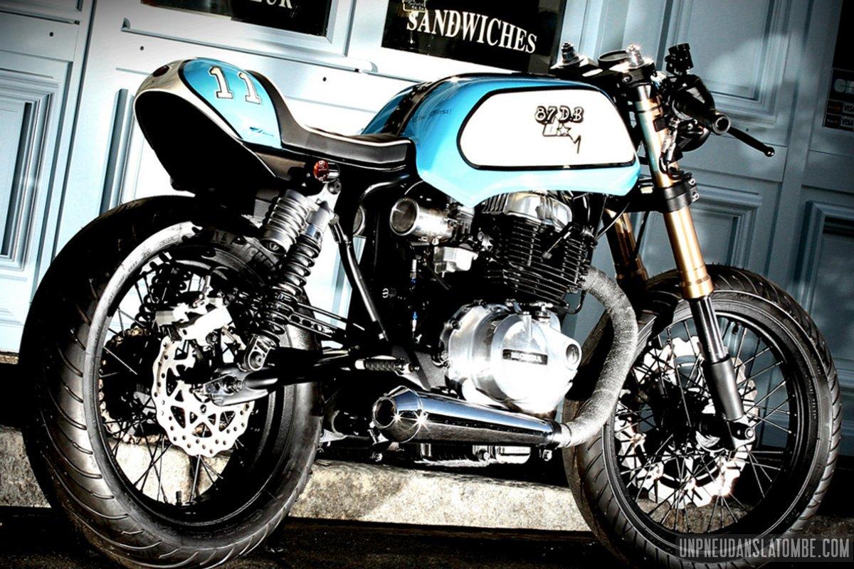 Une Honda CB 400 N cafe-racer, 1ère prépa signée 87 DB ...