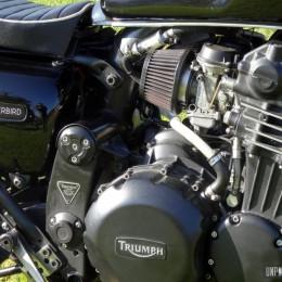 La Triumph T3 de Félix, un cafe-racer bien ficelé...