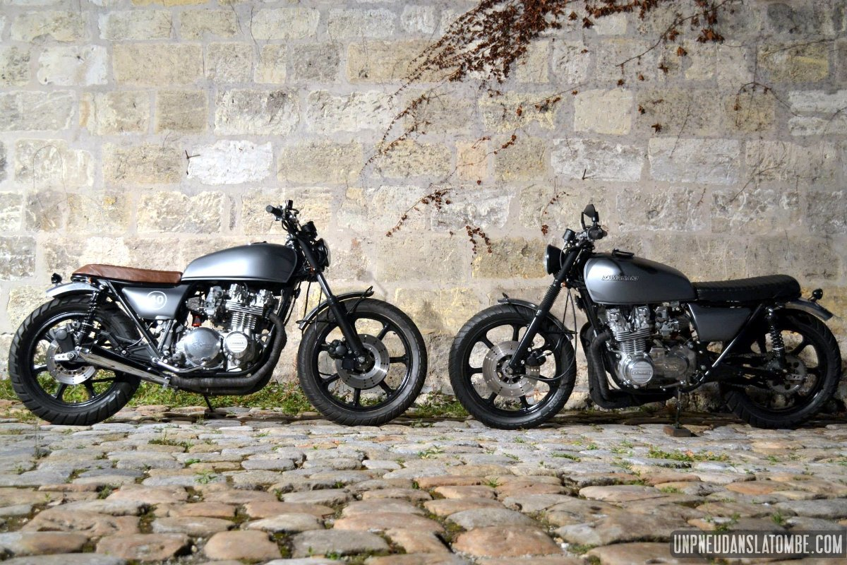 L'atelier Polyracer, papa de 2 Kawasaki KZ 650 jumelles !