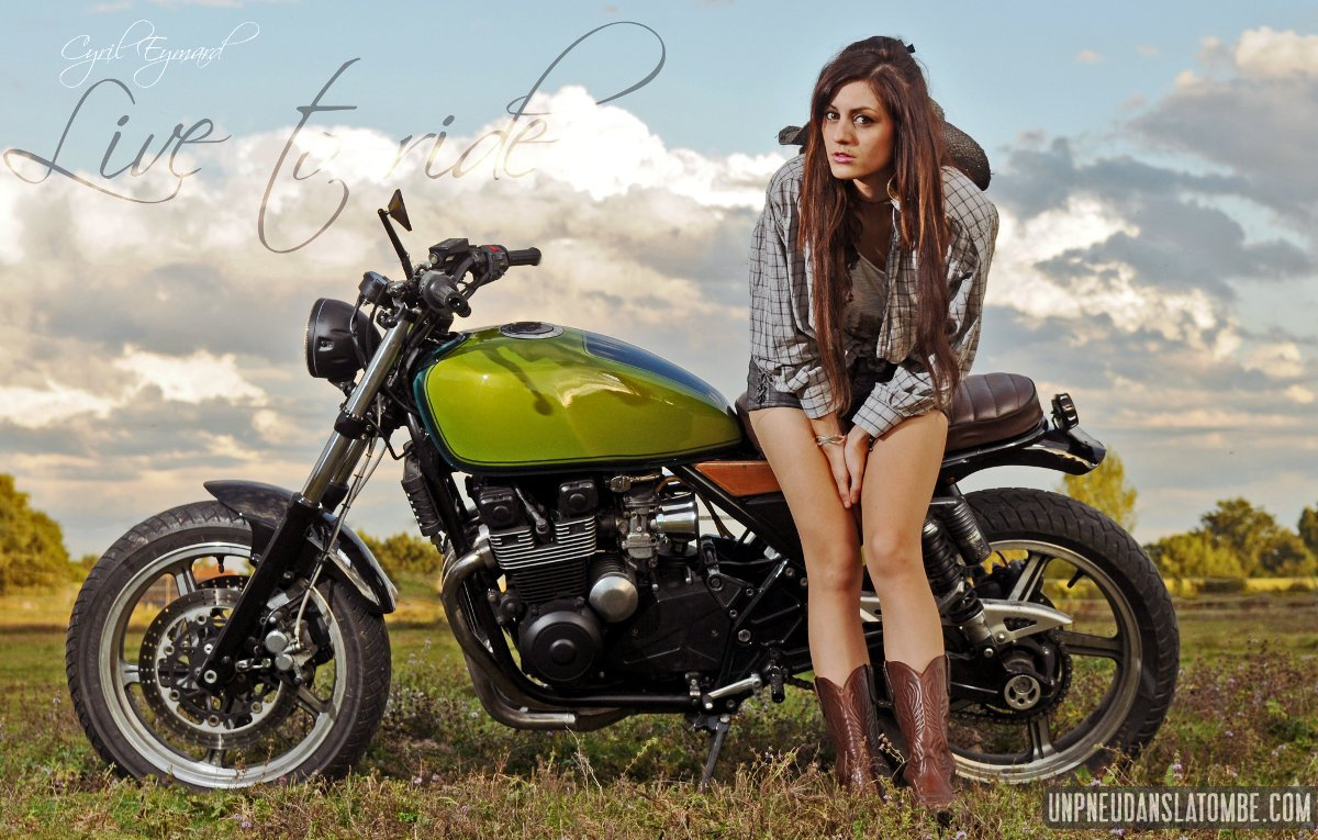 Une Kawasaki 550 Zephyr Fa 231 On Quot Bratstyle Quot Sign 233 E Oldies N