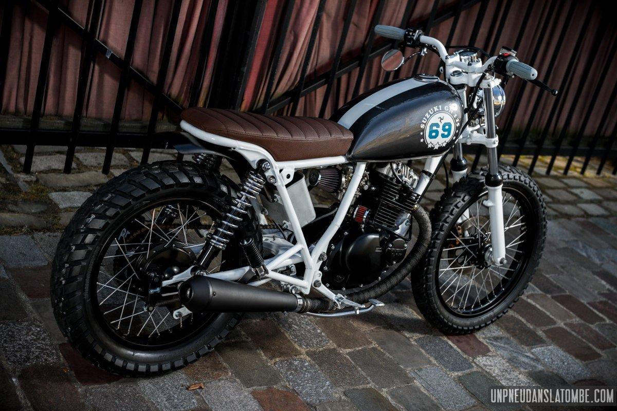 suzuki gn 125 street tracker thomas r cidive avec brio. Black Bedroom Furniture Sets. Home Design Ideas