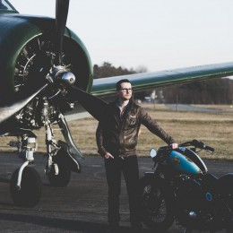 Le Nightster custom de Rémy, pas un avion mais presque...
