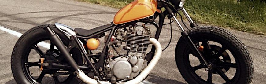 La Yamaha SR 400 custom de Nico...