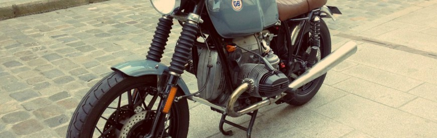 La BMW R100 custom de Guillaume...