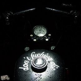 Le 883 Iron personnalisé de Cédric, pour les virées en permission !