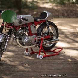 Honda 125 CD cafe-racer : la bombinette de Fabrice pour sa fille !