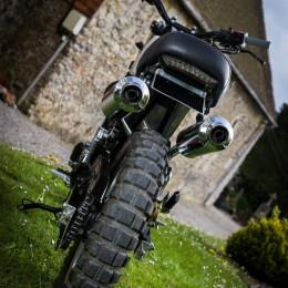 Honda 650 SLR scrambler : la brèle tout chemin de Micka...
