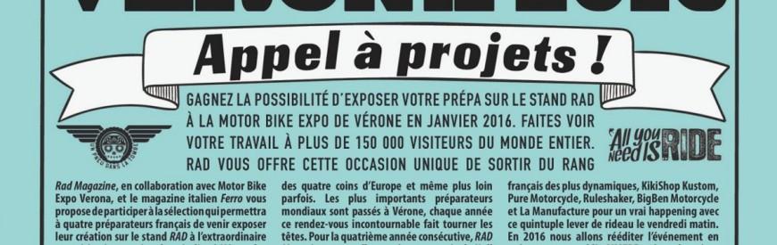 Concours RAD Motorcycles Magazine : venez exposer votre prépa à Vérone !
