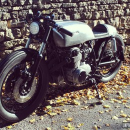 Honda CB 550 cafe-racer : up from the Nasty Basement !