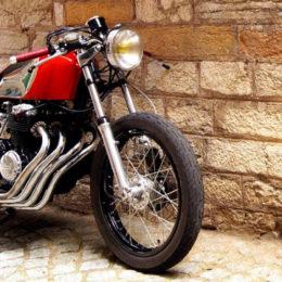 La Honda CB 400 F cafe-racer de Lucas...