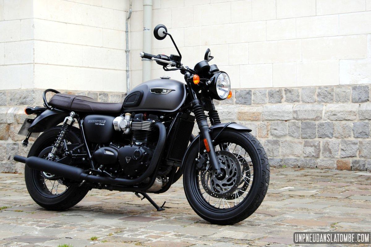 Triumph t120 black la bonneville des gentlemen l 39 essai for Fenetre bonneville