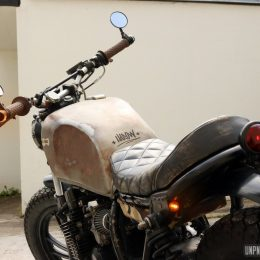"Yamaha XJ 400 custom : la ""rat bike"" de Harold..."