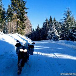 Road trip hivernal : la route des Crêtes en gros trails...