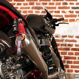 Triumph Bonneville cafe-racer : la belle moto de Marco !