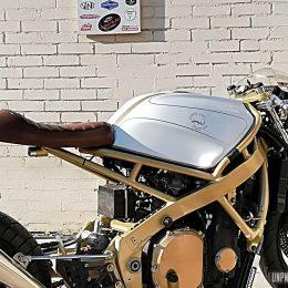 Une Honda CBR 1000 F cafe-racer, signée Lizard King Custom...