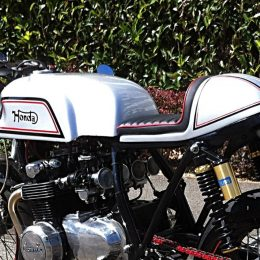 Honda CB 550 cafe-racer : le beau piège de Nicolas !