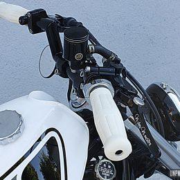 Une belle Honda 600 Shadow rigide, signée Seb Kustom Motorcycle...
