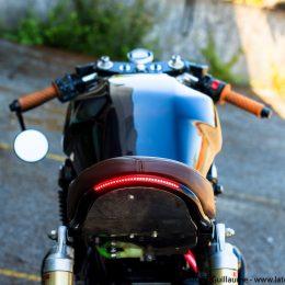 Une Kawasaki ZRX 1100, sortie de L'Atelier Moto'Culture...