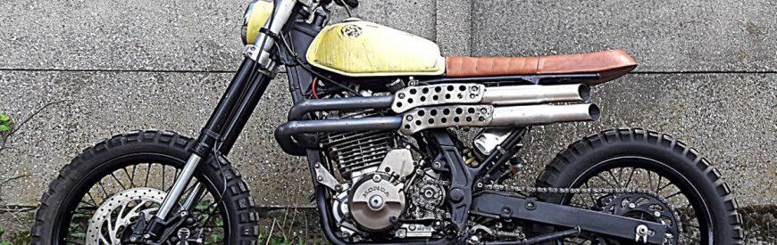Dirty Hand Job : la Honda 650 Dominator scrambler de David...