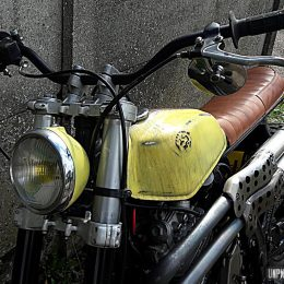 Dirty Hand Job : la Honda 650 Dominator scrambler de David...