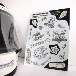 """""""Moonshiners"""" : les stickers rétro-réfléchissants de Black Oleum..."""