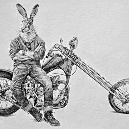 Bénédicte Waryn : the illustrator on a motorcycle !