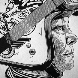 Bénédicte Waryn : the illustrator on a motorcycle !