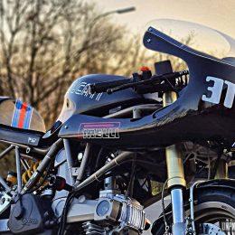Ducati 750 SS cafe-racer : la bécane de Stéphanie, concoctée par son chéri...