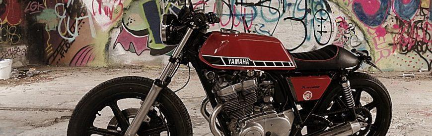 La Yamaha XS 500 cafe-racer de Bernard...